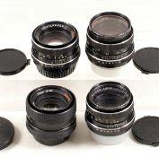 Group of Four Rollei/Voigtlander 50mm Lenses.