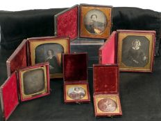 Group of Six Daguerreotypes, Female Subjects.