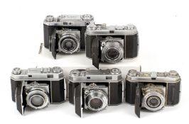 Group of Five Kodak Retina Cameras.
