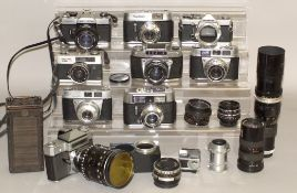 Group of Cameras & Lenses from Closed-Down Shop.