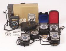 Group of Six Gossen Exposure Meters.