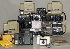 Two Boxes of Cameras, Mostly Polaroid/Kodak & Compact Models.