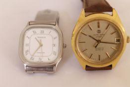 A Tissot Seastar stainless steel quartz gents wristwatch (working) together with a Favre-Leuba