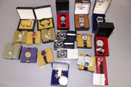 EX SHOP STOCK - A quantity of wristwatches to include seven boxed Oris, Seconda and others, most