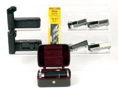 Nikon F Clip-on Light meters, Microscope Attatchment & Motor Drives.