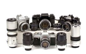 Topcon Cameras, Lenses, inc Black Bodies.