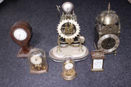 Nineteenth century lantern clock, carriage clock, skeleton clock etc