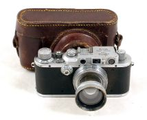 Leica IIIa with Summitar 5cm f2 Lens.