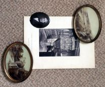 A Pair of Uncommon Firth's Medallions, a J de Parada Photograph on Enamel and a F Bedford Print.