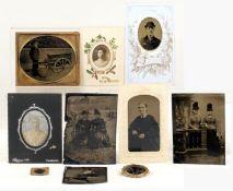 Group of Rare Tin-Type Images, inc Tradesman with Barrow.