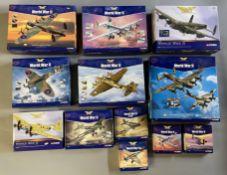 12 Corgi Aviation Archive Word War II model aircraft: AA32604, AA34001, AA32608, AA33903, AA33301, A