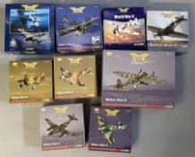 9 Corgi Aviation Archive World War II model aircraft: 47304, AA36301, AA34301, AA31908, AA36501, AA3