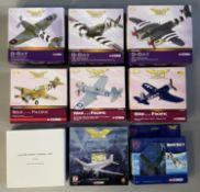 9 Corgi Aviation Archive model aircraft: AA32007, AA31906, AA32809, AA35203, AA33008, AA33009, US322