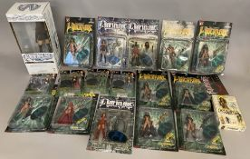 18x Witchblade boxed and carded figures including an Oversize Sara Pezzini