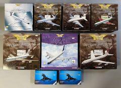 7 Corgi Aviation Archive model aircraft and 2 Schabak Concorde models. Corgi refs: AA31403, 48504, 4