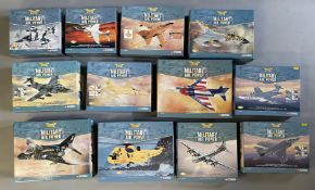 12 Corgi Aviation Archive Military Air Power model aircraft: AA32407, AA32408, AA33602, AA33605, AA3
