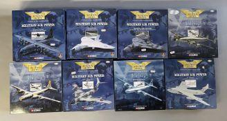 8 Corgi Aviation Archive Military Air Power model aircraft: 48401, 48302, 48301, AA30402, AA31802, A
