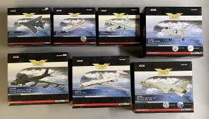 7 Corgi Aviation Archive model aircraft: AA32313, AA39401, AA31311, AA38603, US33508, AA37001, AA386