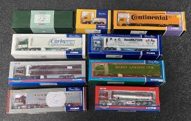 9x Corgi 1:50 scale Commercial vehicle models including Limited Editions and a Premium Edition