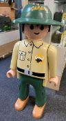 A large Playmobil life size shop display figure from Wildlife Care Station Series. Approx 145cm