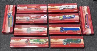 10x Corgi 1:50 scale Haulers of Renown commercial vehicle models including Limited Edition examples,