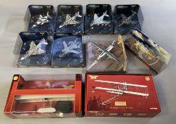10 Corgi Aviation Archive model aircraft: AA35404, US33216, AA33211, AA34107, US33217, AA33607, AA31