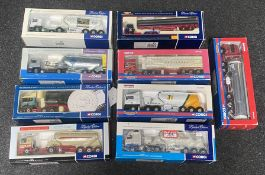 9x Corgi 1:50 scale Commercial vehicle models including Limited Edition examples, all boxed.