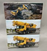 3x Liebherr construction vehicle models by WSI Models, all boxed.