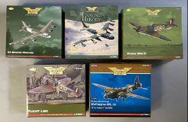 5 Corgi Aviation Archive model aircraft: AA33507, AA33502, AA35505, US33906 AA34809. All boxed.