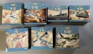7 Corgi Aviation Archive Military Air Power model aircraft: AA32911, AA33501, AA33403, AA34202, AA33