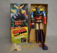 A vintage 62cm Shogun Warriors Raydeen figure with box