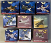 9 Corgi Aviation Archive model aircraft: US33219, US36603, US35804, US31923, US32225, AA35812, AA324