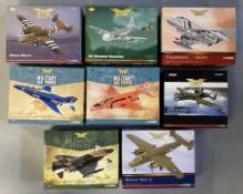8 Corgi Aviation Archive model aircraft: AA35304, AA99190, AA33210, AA33209, AA33208, AA38002, AA332