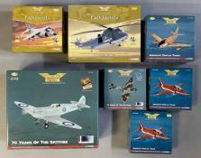 7 Corgi Aviation Archive model aircraft: AA2406, AA33401, AA35806, AA33908, AA31925, 2x AA36001. All