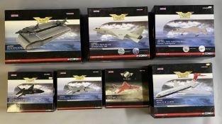 7 Corgi Aviation Archive model aircraft: AA39901, AA38601, AA38602, AA35411, AA35412, AA35410, AA370
