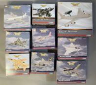 9 Corgi Aviation Archive Military Air Power model aircraft: AA35602, AA35401, AA32915, AA35405, AA35