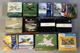 13 Corgi Aviation Archive model aircraft: AA33806, AA36003, AA33101, 49104, 49503, AA35801, PR99406,