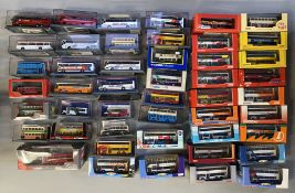 43 Corgi and 4 other model buses. All boxed.