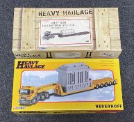 2x Corgi 1:50 scale limited edition Heavy Haulage sets CC12810 and CC12003.
