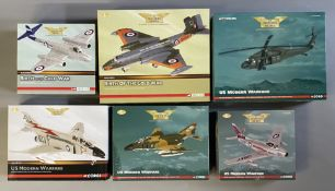 6 Corgi Aviation Archive model aircraft: AA35001, AA34703, AA35901, AA33212, AA33218, AA35802. All b
