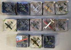 13 Corgi Aviation Archive model aircraft: AA32410, AA32409, AA30013, AA31913, AA30010, AA32104, AA32