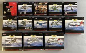 13 Corgi Aviation Archive model aircraft: AA32015, AA38705, AA39201, AA31927, AA38703, AA38702, AA38
