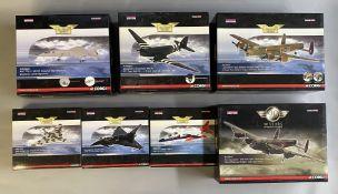 7 Corgi Aviation Archive model aircraft: AA38602, AA38203, AA32616, AA31206, AA36403, AA35409, AA326