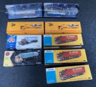 9x Corgi 1:50 scale Commercial vehicle models including 50th Anniversary examples, all boxed.