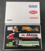 WSI 02-1753 Paccar gift set, comprising three 1:50 scale commercial vehicle models.