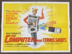 The Computer Wore Tennis Shoes British Quad film poster, folded.