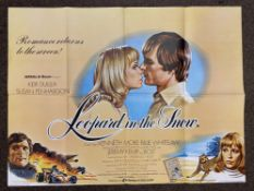 Leopard In The Snow British Quad film poster, folded.