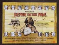 Agatha Christie's Death On The Nile British Quad film poster, folded.