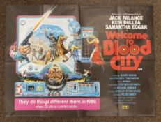 Welcome To Blood City British Quad film poster, folded.