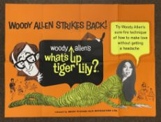 Woody Allen's What's Up Tiger Lily? British Quad film poster, folded.